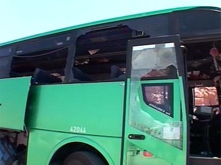 פיגוע ירי על אוטובוס, אילת (צילום: חדשות 2)
