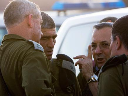 בני גנץ, אהוד ברק, טל רוסו - ירי באילת (צילום: חדשות 2)