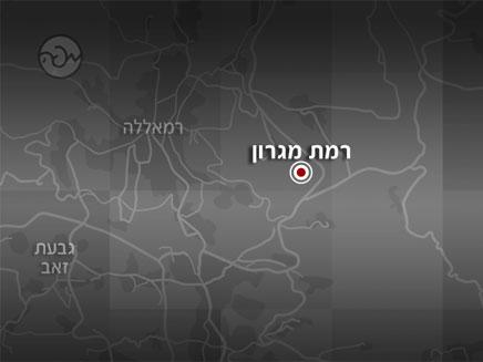 מפת רמת מגרון, ליד רמאללה (צילום: חדשות 2)