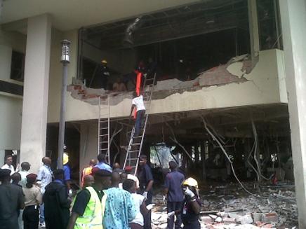 """פיגוע תופת בבניין האו""""ם בניגריה (צילום: AP)"""