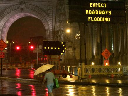 ניו יורק בכוננות סופה (צילום: AP)