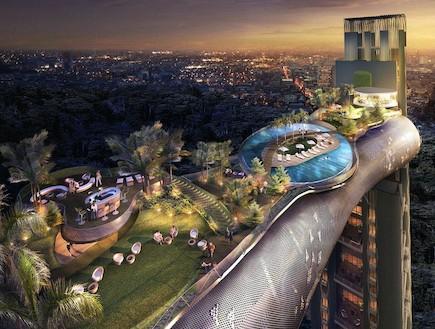 מבנים עתידניים (צילום: MailOnline)