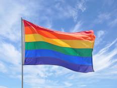 דגל גאווה מקרוב (צילום: USGirl, Istock)