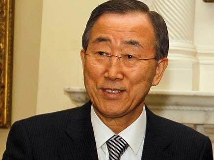"""מגנה. מזכ""""ל האו""""ם באן קי-מון (צילום: רויטרס)"""