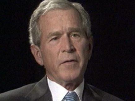 ג'ורג' בוש. לא השיג רוב - וניצח (צילום: חדשות 2)