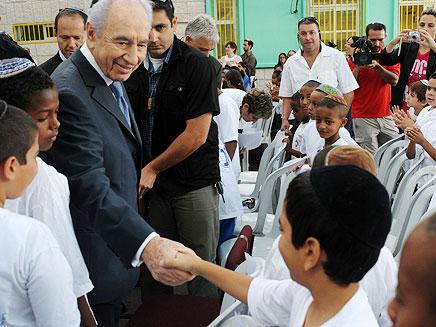 """הנשיא פרס פתח את שנה""""ל בירושלים (צילום: מארק ניימן / לע""""מ)"""