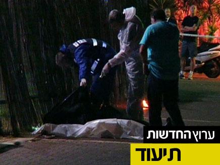 זירת הרצח בספורטק בתל אביב (צילום: חדשות 2)