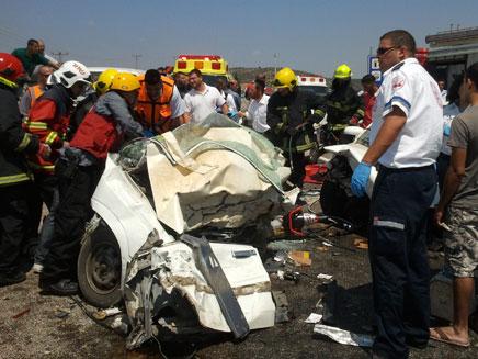 זירת התאונה, היום (צילום: פוראת נסאר)
