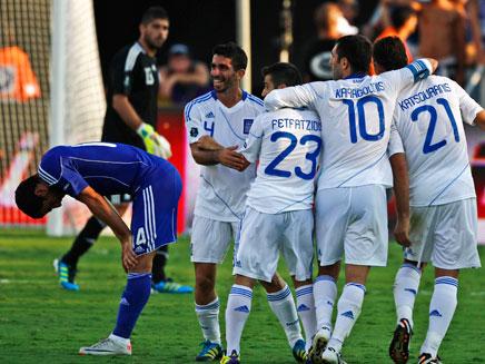 נבחרת ישראל בפעולה (צילום: AP)