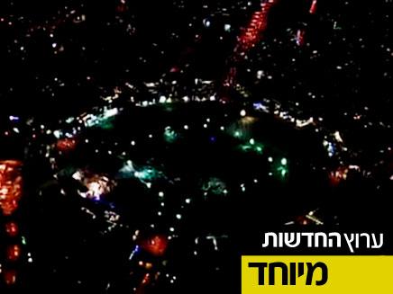צפו בהפגנה - מהאוויר (צילום: חדשות 2)