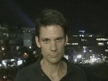 כתבים זרים על ההפגנה בתל אביב (צילום: חדשות 2)