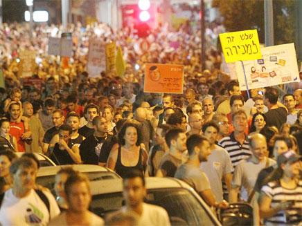 המחאה החברתית בשנה שעברה. ההמונים חוזרים לרחובות? (צילום: עודד קרני, mako)
