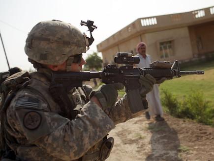 חייל אמריקאי (צילום: Spencer Platt, GettyImages IL)