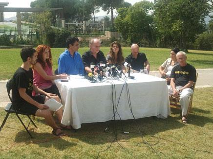 מסיבת העיתונאים, היום (צילום: יוסי זילברמן, חדשות 2)