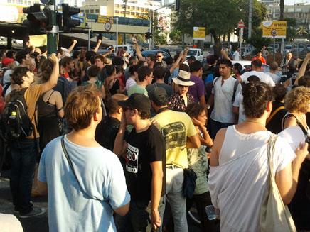 """הפגנת בכיכר רבין בת""""א (צילום: עזרי עמרם, חדשות 2)"""