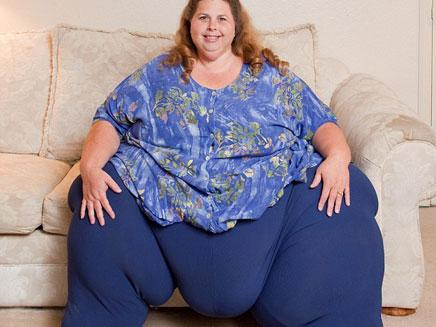האישה הכי שמנה בעולם (צילום: ספר השיאים של גינס)