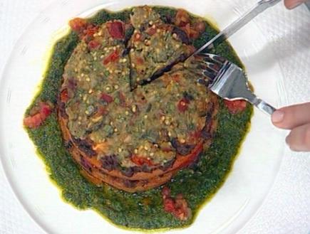 לזניית סולת עם בשר כבש, עגבניות וחצילים (תמונת AVI: mako)