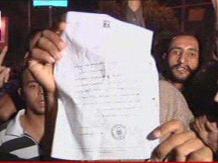הפגנות מול שגריריות ישראל במצרים (צילום: חדשות 2)