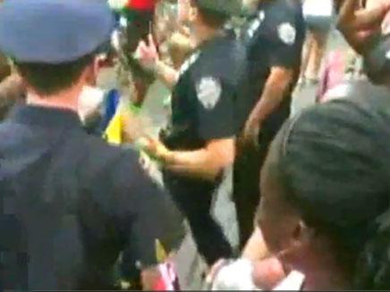 """""""השוטרים המרקדים"""" (צילום: חדשות 2)"""