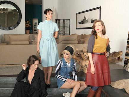 לירז צ'רכי, קרן מור, יאנה גור לפאשן פורוורד (צילום: אלעד דיין)