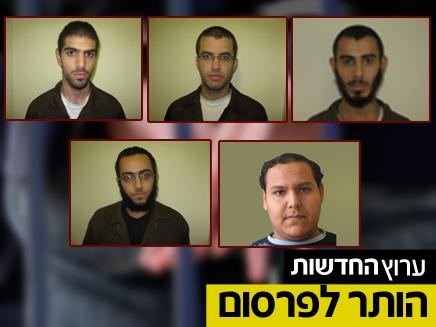 חמשת הנאשמים בהשתייכות לחוליית הטרור (צילום: חדשות 2)