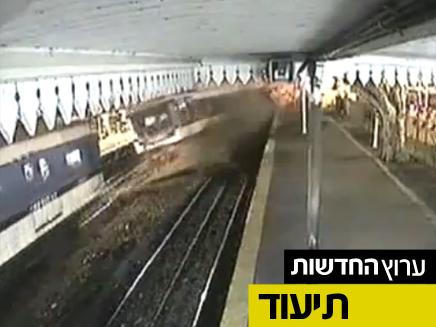 צפו בתיעוד התאונה במצלמות האבטחה (צילום: יוטיוב)