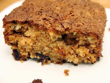עוגת תפוחים ושוקולד (צילום: עודד קרני)