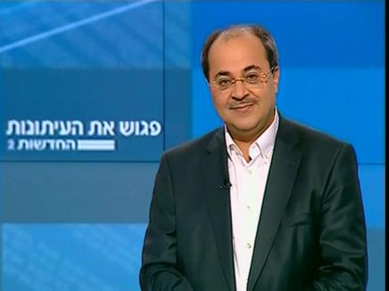 אחמד טיבי באולפן חדשות 2 (צילום: חדשות 2)