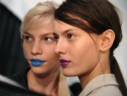 שפתיים דומיננטיות - שבוע האופנה בניו יורק 2011