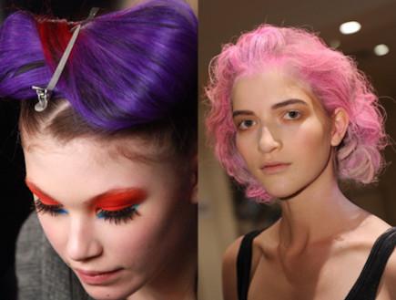 שיער בצבעי ממתק - שבוע האופנה בניו יורק 2011