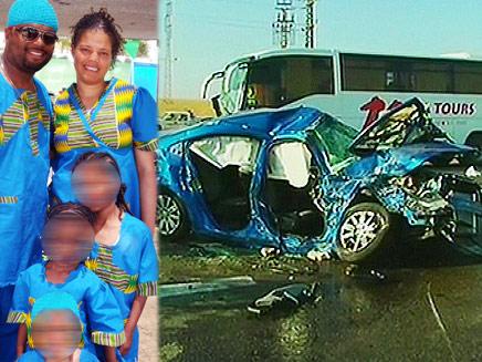 משפחת יובלה וזירת התאונה (צילום: חדשות 2)