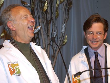 מייקל ג'יי פוקס  (מימין), אנדרו גרוב (צילום: Justin Sullivan, GettyImages IL)