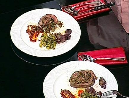 סינטה ממולאת כבדי עוף ושקדי עגל (תמונת AVI: mako)