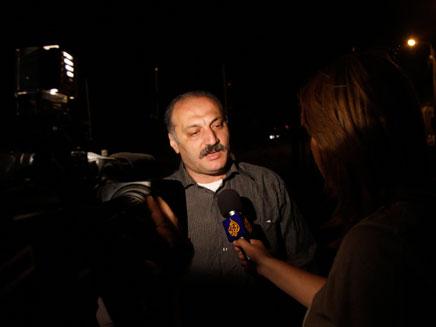 סאמר עלאוי, לאחר השחרור מהכלא (צילום: AP)
