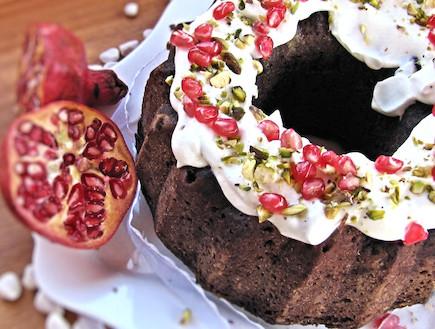 עוגת שוקולד יוגורט ורימון
