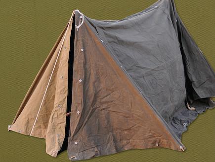 """אוהל (צילום: עיתון """"במחנה"""")"""