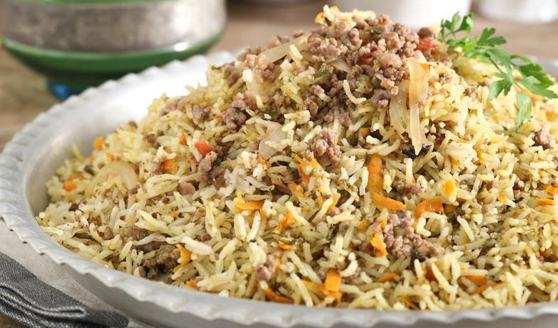 אורז עם בשר טחון (צילום: אסף רונן)