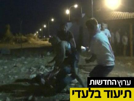 ענתות עימותים אלימים מכות (צילום: חדשות 2)