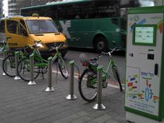 מערך האופניים להשכרה. לא בכיפור (צילום: עיריית תל אביב)