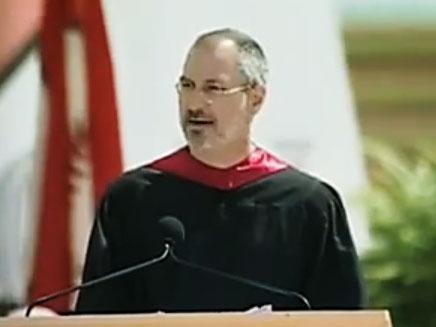 סטיב ג'ובס בהרצאה מ-2005 (צילום: יוטיוב)