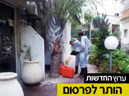 זירת הרצח, תל אביב (צילום: חדשות 2)