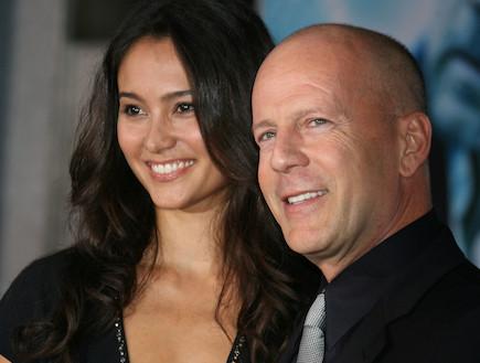 ברוס וויליס ואשתו (צילום: Russ Einhorn / Splash News, Splash news)