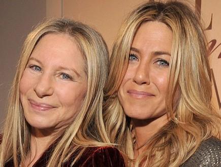 ברברה סטרייסנד וג'ניפר אניסטון (צילום: Gettyimages IL, Getty images)