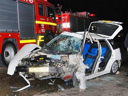 זירת התאונה, היום (צילום: רפעת עכר)