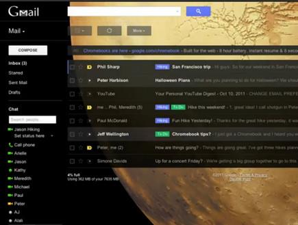 שינויים של ג'ימייל, Gmail (צילום: אתר רשמי, צילום מסך)