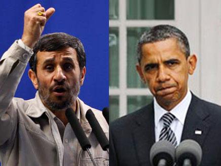 חילופי האשמות. אובמה ואחמדינג'אד (צילום: רויטרס, AP)