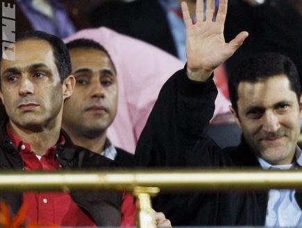 ג´מאל מובארק ואחיו עלאא´. המהפכה שהפילה את הנבחרת? (רויטרס) (צילום: מערכת ONE)
