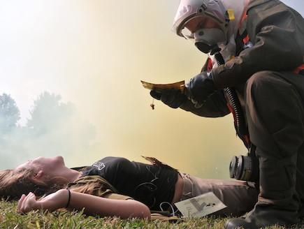 תרגיל עורף (צילום: יובל הקר, באדיבות גרעיני החיילים)