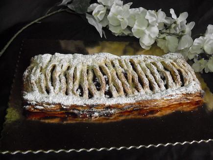 מאפה תריס במילוי שקדים ודובדבנים (צילום: אביבה פיבקו)