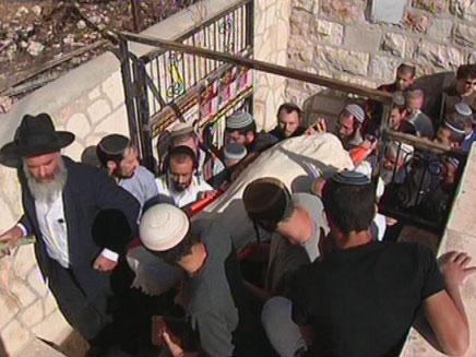 הלוויית הרב בירושלים (צילום: חדשות 2)